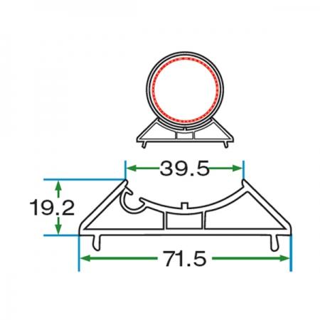 70 mm CORNER ADAPTER