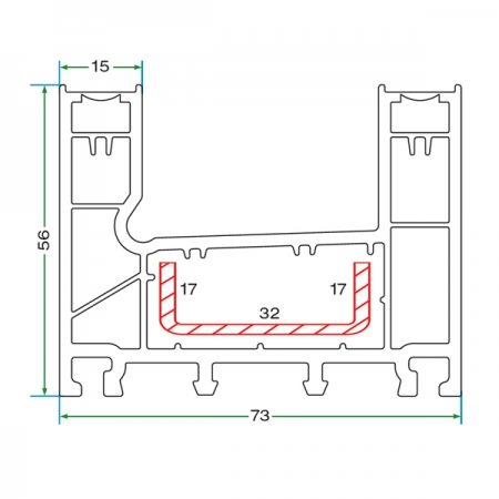 DOUBLE RAIL SLIDING FRAME PROFILE