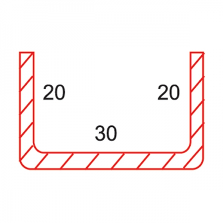 METAL FOR FRAME WITH BORDER STEEL REINFORCEMENT