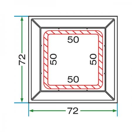 70 mm KUTU PROFIL