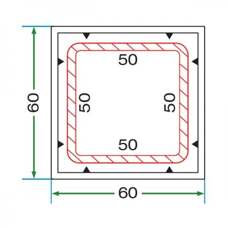 60 x 60 BOX PROFILE