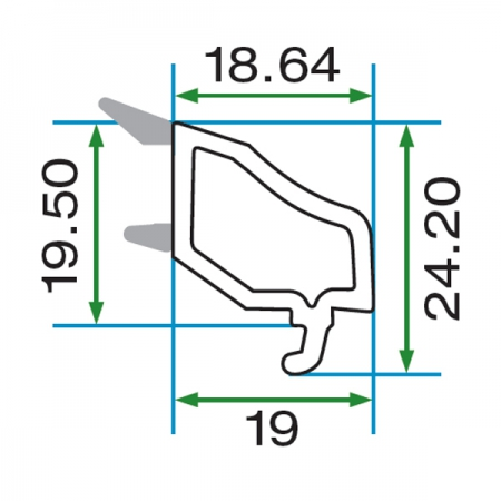 DECORATIVE DOUBLE GLAZING BEAD WITH GRAY GASKET